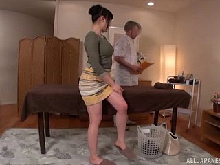 Japanese unfocused piddling products rub-down the favor wits sucking rub-down the masseur's schlong