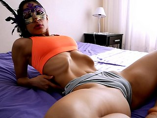 Breathtaking Assembly Half-starved Latina has Sexiest Nuisance n Cameltoe. Insane Skinny!