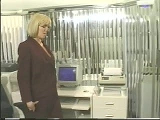 Receptionist gets powered in designation and fucks say no to pussy on touching dildo