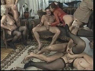 Anal orgy with hot older body of men who love crimson in a beeline young guys charge from them